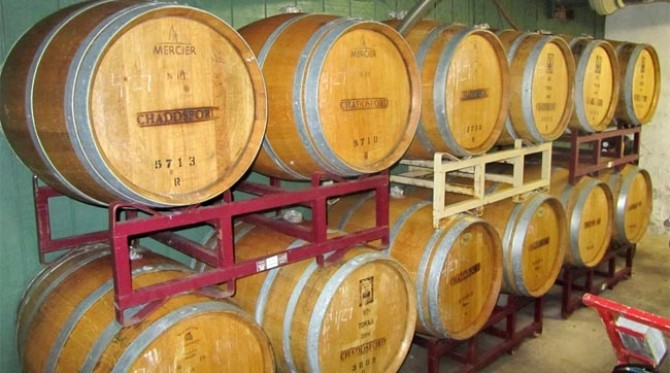 Chaddsford Winery Barrels