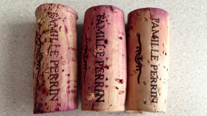 heated wine corks