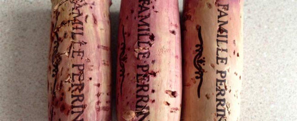 heated wine corks