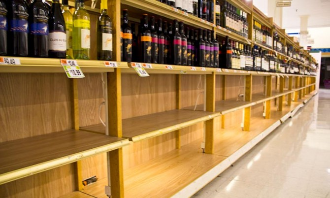 wine in supermarkets