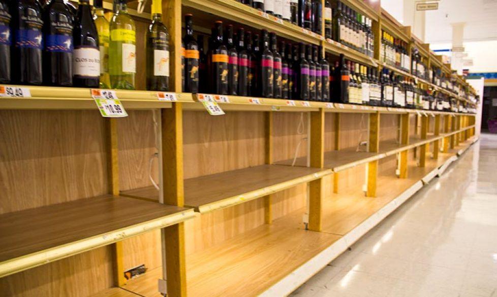 wine in supermarkets